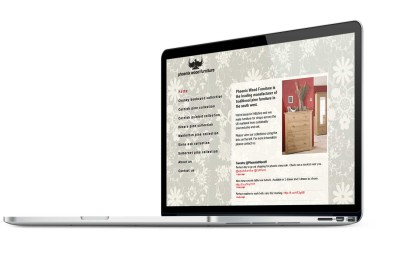 Phoenix Wood Furniture, Wiltshire website design