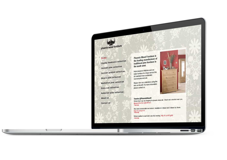 Phoenix Wood Furniture, Wiltshire website design