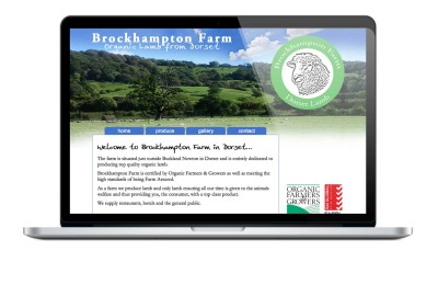 Brockhampton Farm, Dorset website design