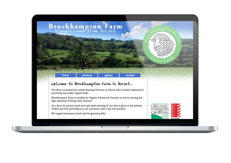 Brockhampton Farm, Dorset website design