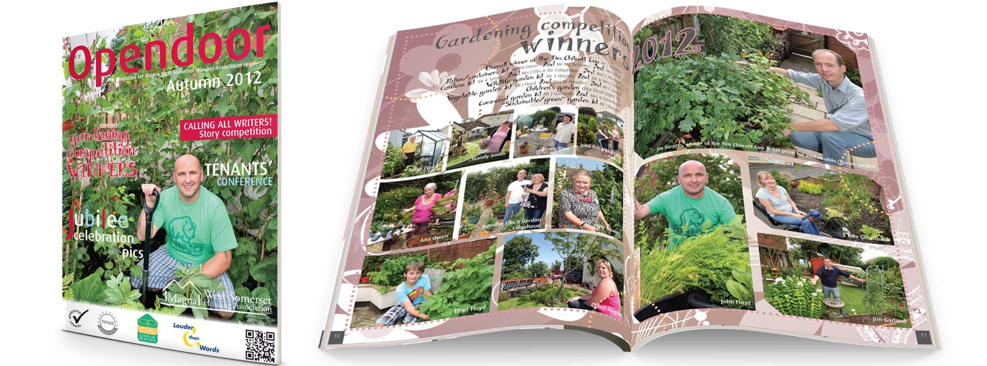 Magna Housing Group Magazine Design