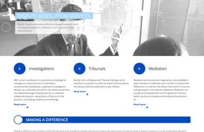 Making a Difference website design