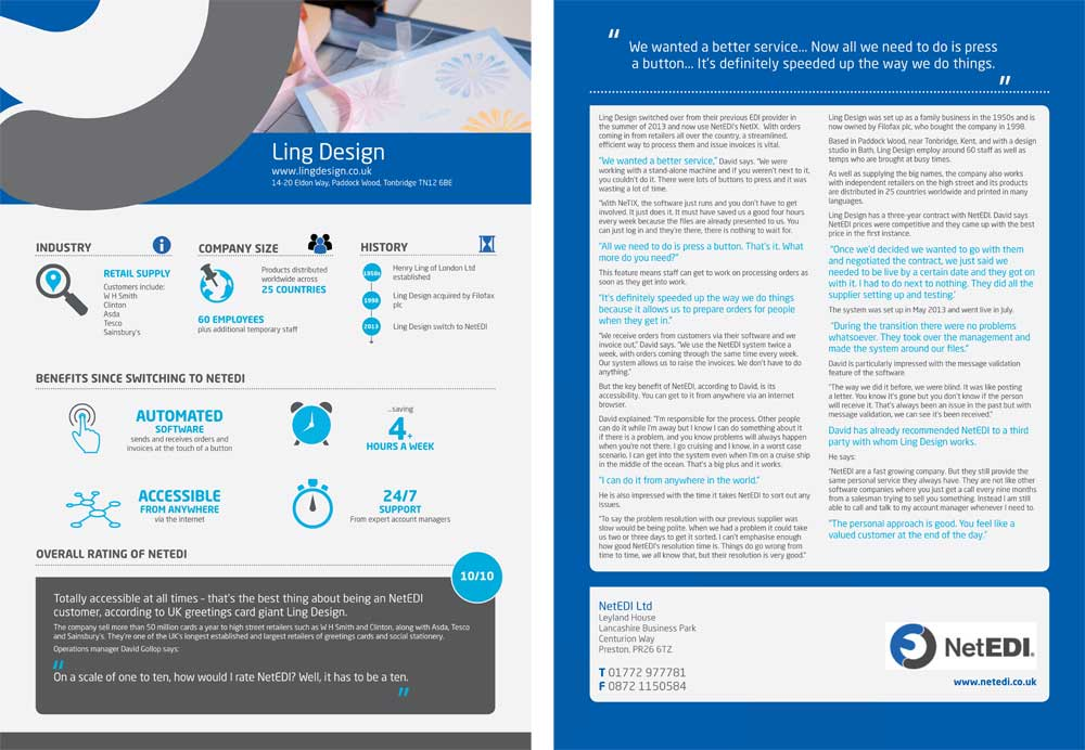 Infographic case study research & design