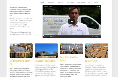 SogoSolar, Twickenham website design & development