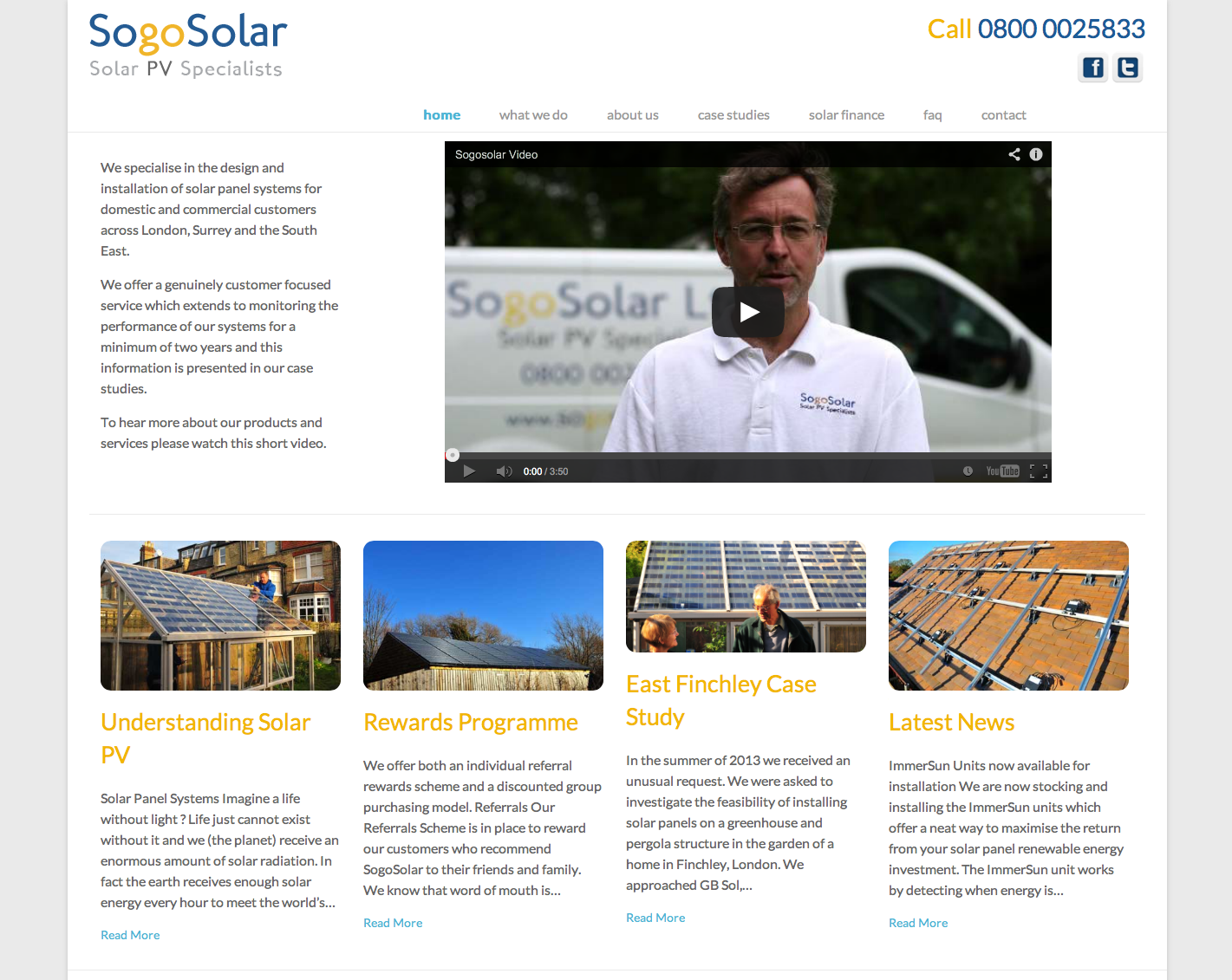 SogoSolar, Twickenham website design & development