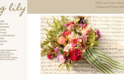 GLily Florist website design & development