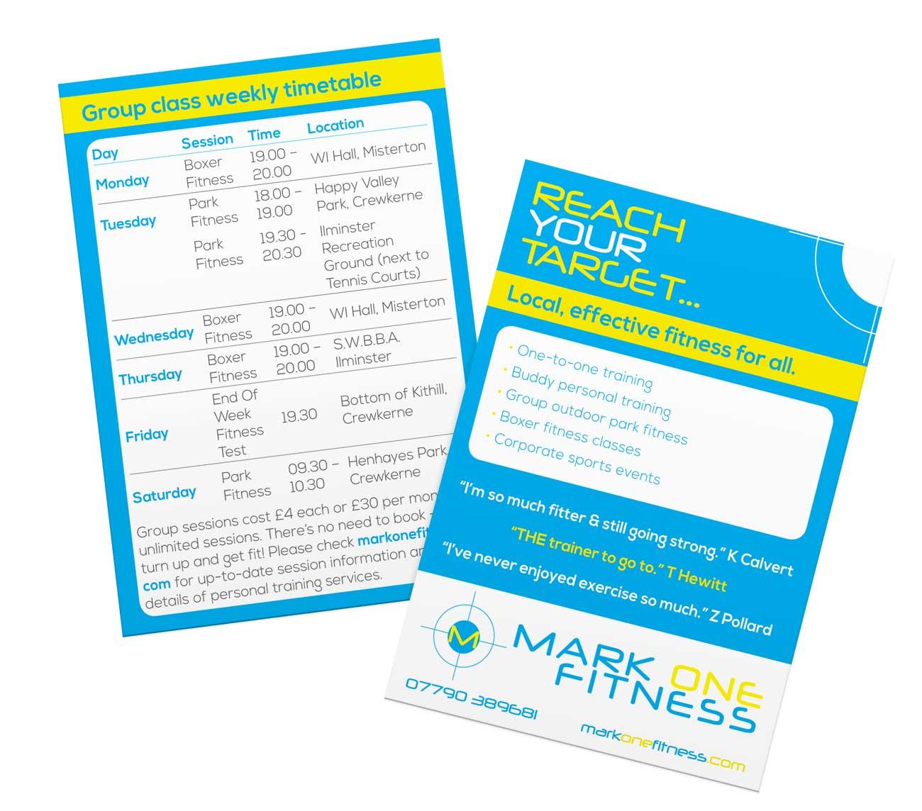Crewkerne leaflet design