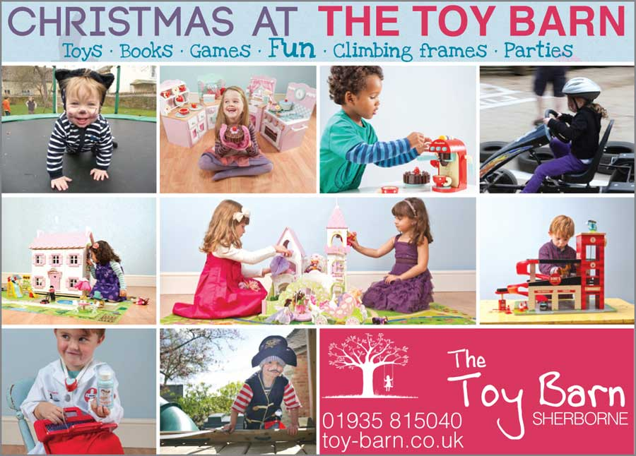 Toy Barn, Dorset Christmas print ad