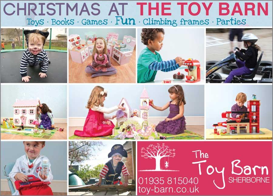 Toy Barn, Dorset Christmas print ad