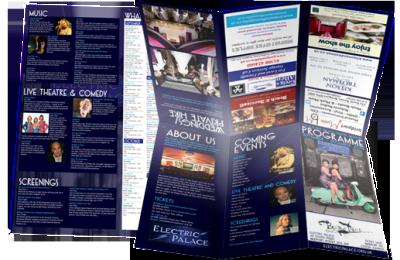 Electric Palace, Bridport Leaflet Design