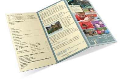 The Toy Barn, Sherborne leaflet design
