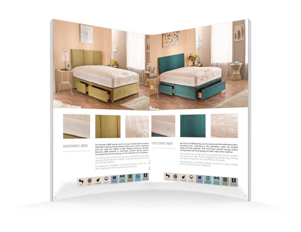 Moonraker Beds Brochure Design