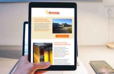 Biomass Energy Responsive Email Marketing Campaign