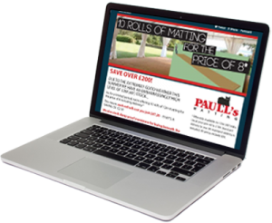 Email marketing campaign design for Paulls in Martock, Somerset