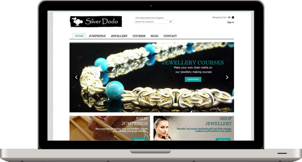 silver dodo website design