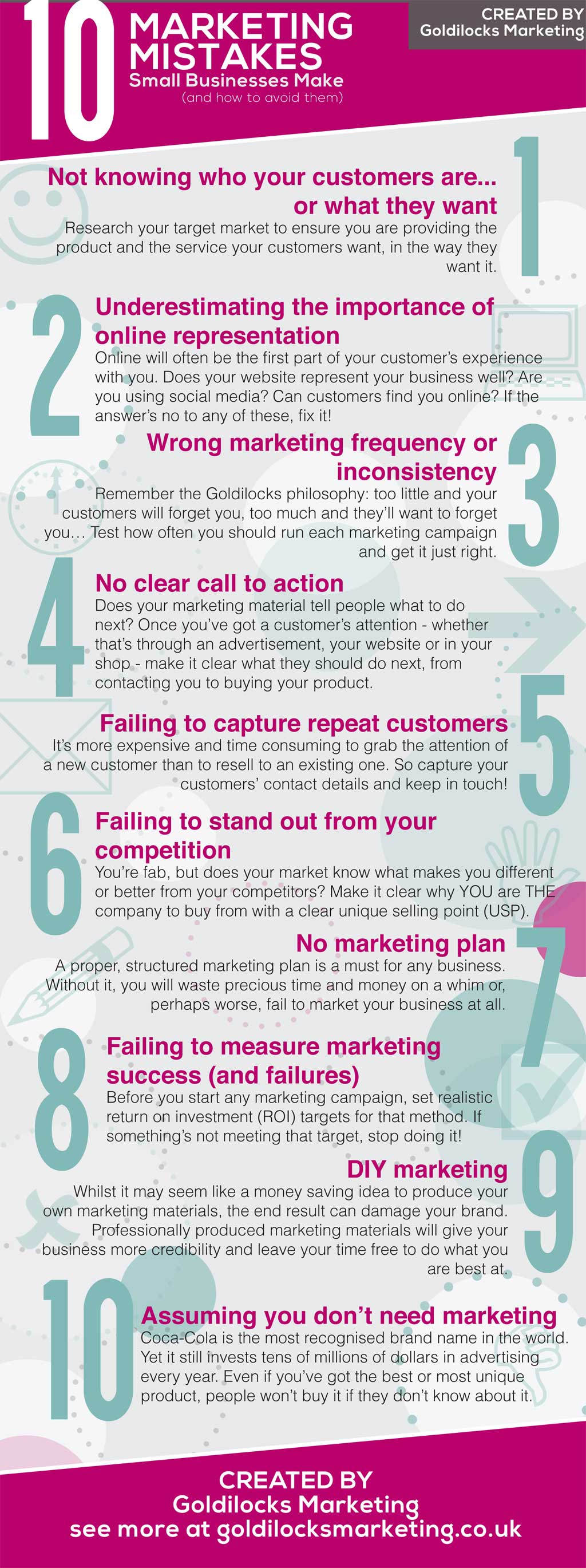 ten marketing mistakes small businesses make (info graphic)