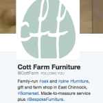 @CottFarm uses hashtags to good effect in their bio